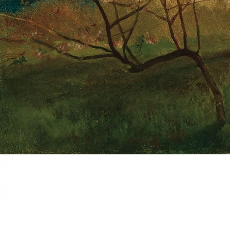 study of apple tree spring by john la farge