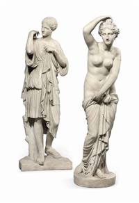 classical statues: diana de gabies; venus (2 works) by anonymous-british (19)