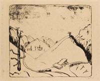 berge im schnee by erich heckel