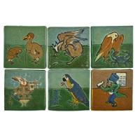 rare alice in wonderland tiles (6 works) by grueby