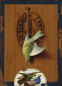 havana cigar box with bird by henry simmers