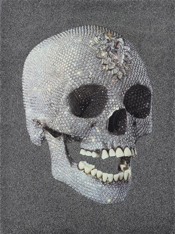 for the love of god laugh large diamond skull by damien hirst