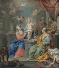 the holy family by franz christoph janneck