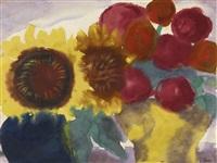 dahlienblüten (dahlia flowers) by emil nolde