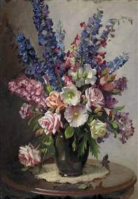 floral still life by ernest william buckmaster