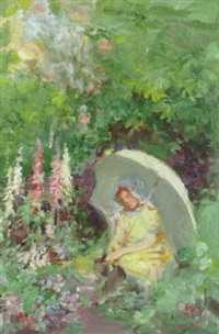in the shade of a parasol by alfred john billinghurst