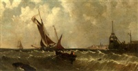 Shipping off a harbor mouth, 1858