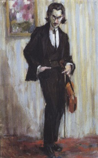 le violoniste by maurice jean micha