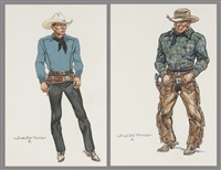 gunslingers (pair) by joe de yong