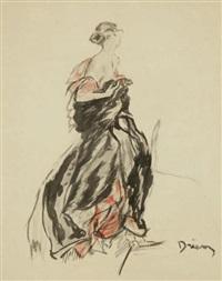 portraits d'élégantes (2 works) by etienne drian