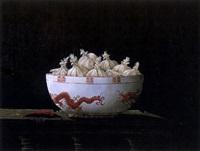 stilleven met chinese kom en knoflook by tjerk reijinga