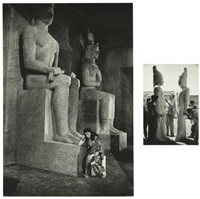 décor de statues monumentales la terre des pharaons (howard hawks) (3 works) by david 'chim' seymour