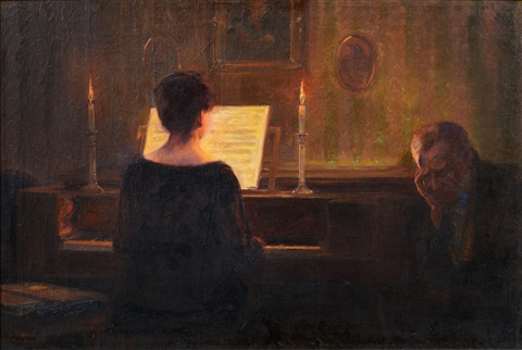 at the piano by reinhold bahl