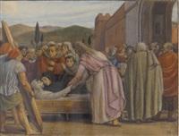 le christ ressuscitant le fils de la veuve de naïm by charles-louis rivier