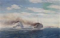 flottenausfahrt der k. u. k. kriegsmarine by august von ramberg