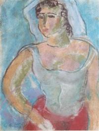 portrait de femme by georges artemov