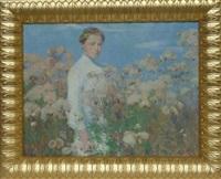 portrait de femme dans un champ de fleurs by kate reinecken