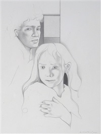 cathy silently turned her face (+ 2 others; 3 works) by graham ovenden