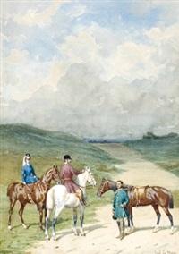 vornehme reiter in der normandie by paul lemore