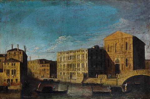 the palazzo lezze with the scuola grande della misericordia venice by francesco tironi