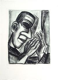 das leben ist traum (portfolio of 9 w/text by pedro calderon, antonio machado and volker braun) by nuria quevedo