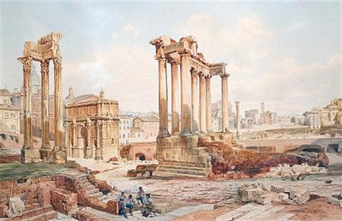 the forum rome by domenico amici