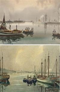 barcos en puerto (pair) by david mercade