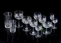 lasiastiasto, 102 osaa (a set of glasses, 102 pieces) by göran hongell