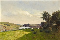 landschaft bei pont-aven by charles riviere