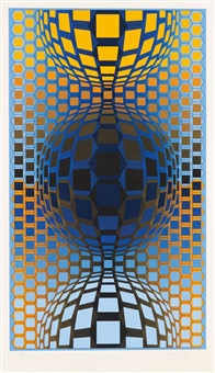three spheres by victor vasarely