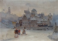 winterhafen an der newa by gennadij aleksejewitsch litvinov