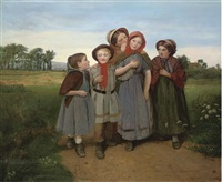 on the way to school by edward thompson davis