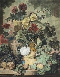 flores y frutos by michiel van huysum