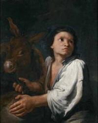 giovanetto con asino by arcangelo resani