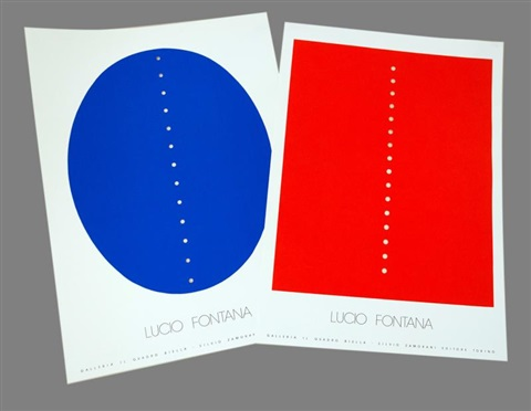 affiches set of 2 by lucio fontana