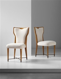 pair of rare chairs by gio ponti