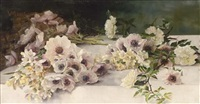 summer blooms on a table by victoria (princess of coburg) melita