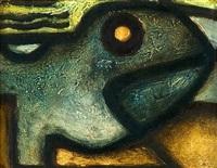 ohne titel (blauer fisch) by rudolf jahns
