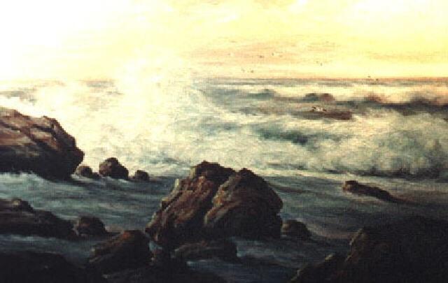 rocky shore by warren webb