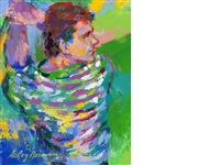 portrait of sir nick faldo by leroy neiman