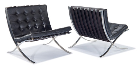 Barcelona Chairs (2) By Ludwig Mies Van Der Rohe