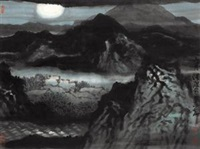 山月 (moonscape) by hong chao