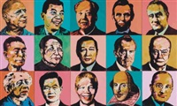 world leaders (polyptych) by dipo andy