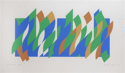 wall painting 1 print by bridget riley