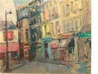 a paris street scene by lena alexander