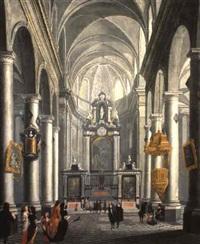 a baroque church interior by wilhelm schubert van ehrenberg