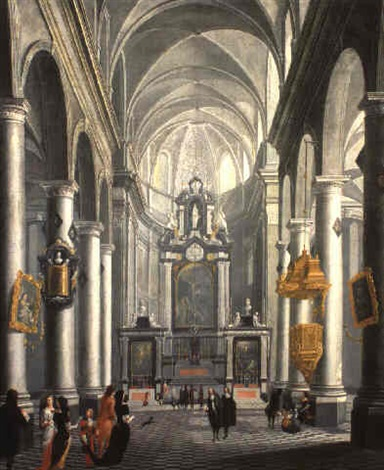 a baroque church interior by wilhelm schubert van ehrenberg