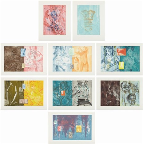 canfield hatfield suite set of 9 by david salle