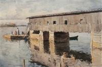 wharf by william brymner