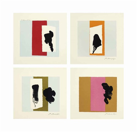 the berggruen series set of 4 by robert motherwell